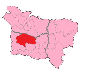 Oise's 1st constituency - Oise's 1st Constituency shown within Picardie.