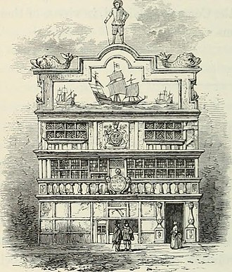 East India House - Old East India House: from a late 17th-century Dutch print.