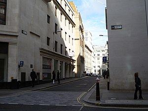 Old Jewry - The southern end of Old Jewry at its junction with Poultry