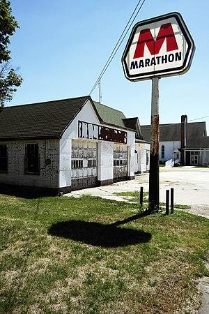 Ohio, Illinois - Old Marathon Filling Station, Ohio, Illinois