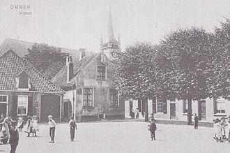Ommen - Vrijthof Ommen with former city hall (in centre), 1905