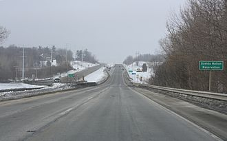 Oneida Nation of Wisconsin - Road entering the Oneida Reservation in Oneida, Wisconsin