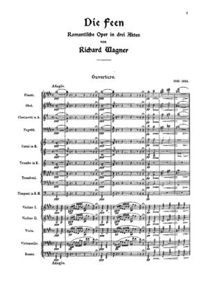 Die Feen - Image: Opening of Richard Wagner's opera 'Die Feen'