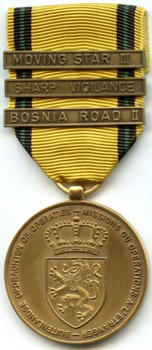 Commemorative Medal for Foreign Operations or Missions - Image: Operations et missions etrangeres Belgique