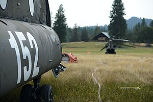 Oregon Army National Guard - An Oregon Army National Guard CH-47D Chinook helicopter