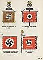 "Organisationsbuc00nati 0 orig 0639 ORGANISATIONSBUCH DER NSDAP 1943 Tafel 45 Schutzstaffel SS Standarte Leibstandarte ""Adolf Hitler"" ""Julius Schreck"" Sturmbannfahne Reiterstandarte Public domain Cropped.jpg"