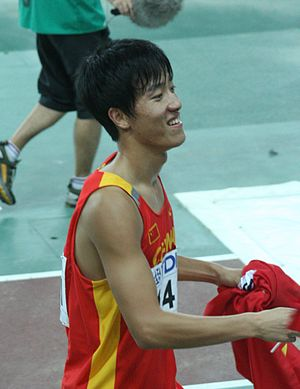 110 metres hurdles - Liu Xiang was the first person to run under 12.9 seconds