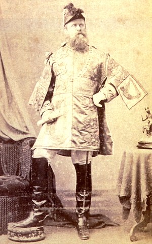 Osmond Barnes - Osmond Barnes, photographed in tabard as Chief Herald of India at the Delhi Durbar of 1877