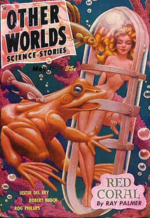 Other Worlds, Universe Science Fiction, and Science Stories - Hannes Bok cover for the May 1951 issue of Other Worlds