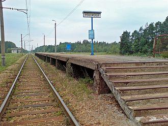 Põllküla - Image: Põllküla station