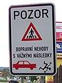 Příbram, Brodská, Pozor dopravní nehody s vážnými následky.jpg