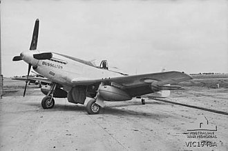 Busselton - The P-51 Mustang which was given the nickname Busselton at RAAF Base Laverton in 1945