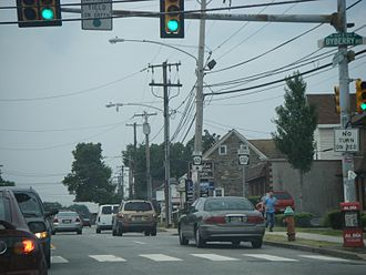 Somerton, Philadelphia - Bustleton Avenue at the intersection with Byberry Road in Somerton.