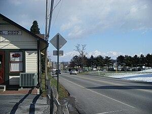 Pennsylvania Route 741 - PA 741 eastbound in Strasburg near Strasburg Rail Road and Railroad Museum of Pennsylvania.
