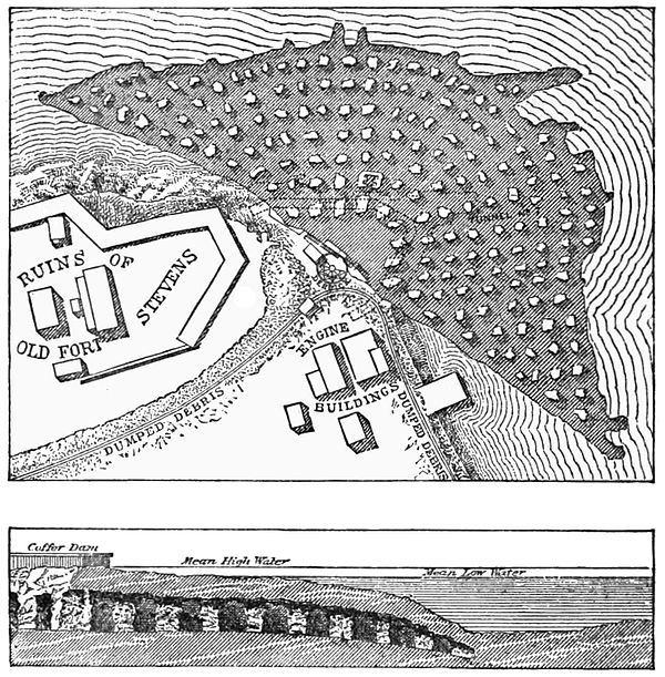 The excavations and tunnels used to undermine Hallert's Point PSM V28 D454 Hallet point excavations and tunnel 7.jpg