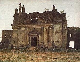 Canale Monterano - Ruins of Bernini church of San Bonaventura