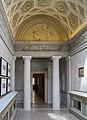 Palazzo Tosio interno con colonne e rilievo in lunetta Brescia.jpg