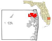 Palm Beach County Florida Incorporated and Unincorporated areas Palm Beach Gardens Highlighted.svg
