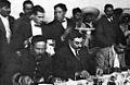 Pancho Villa, el presidente provisional Eulalio Gutiérrez y Emiliano Zapata.jpg