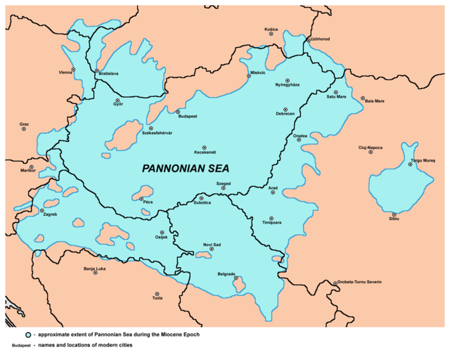 The Pannonian Sea during the Miocene Epoch