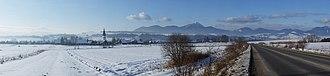 Liptov - Image: Panorama of Liptov in winter
