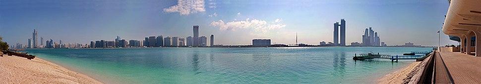 Abu Dhabi skyline as seen from the Marina