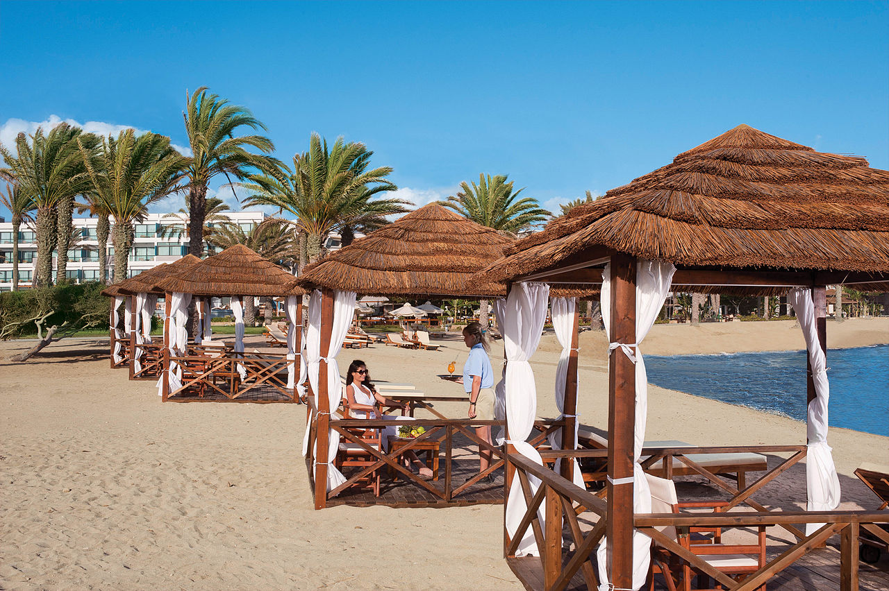 Paphos hotel beach