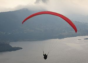 La Calera, Cundinamarca - Paragliding over San Rafael Reservoir