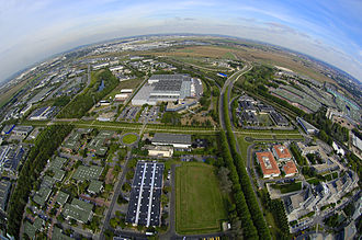 Parc des Expositions de Villepinte - Aerial view of the Parc des Expositions