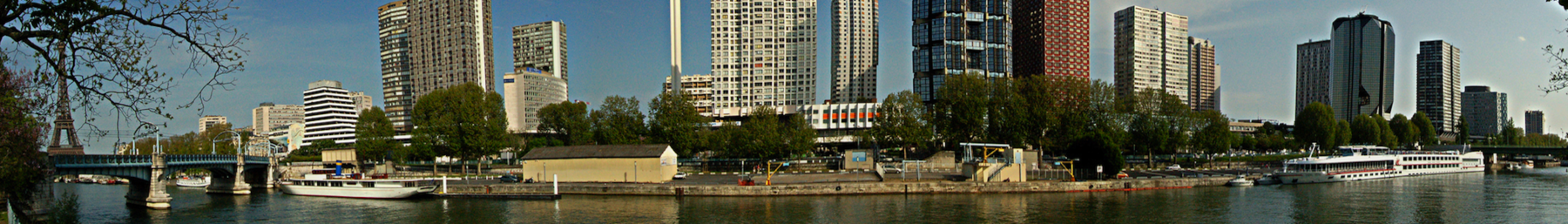 The Front de Seine of the 15th arrondissement