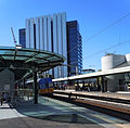 Parramatta railway station with Sydney Water building behind.jpg
