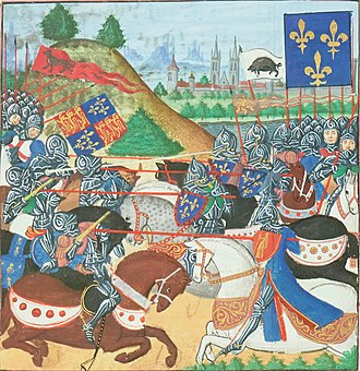Loire Campaign (1429) - The French and English joust into battle. In reality, the English had no horse in the battle.