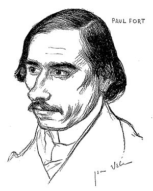 Paul Fort - Drawing of Fort by artist Jean Veber.