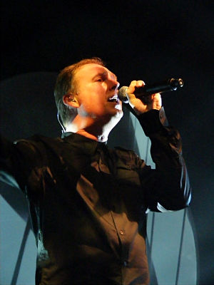 Paul Humphreys - Humphreys performing with OMD in 2008
