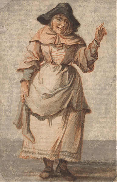 File:Paul Sandby - An Old Market Woman Grinning and ... Old Market Woman