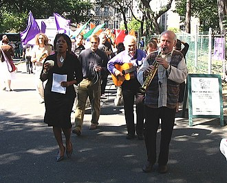Grammy Award for Best New Age Album - Members of the four-time award-winning band Paul Winter Consort performing in 2005