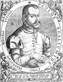 Paulus Scalichius, Comes Hunnorum Marchio Veronae on frontispiece.jpg
