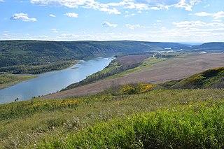Peace River river in Alberta and British Columbia