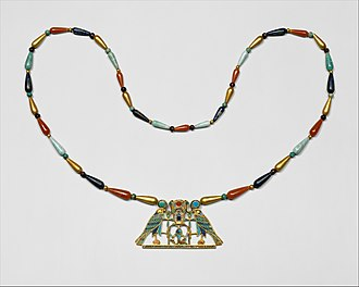 Sithathoriunet - Image: Pectoral and Necklace of Sithathoryunet with the Name of Senwosret II MET DT531