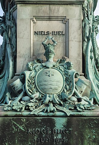 Statue of Niels Juel - Detail of the plinth
