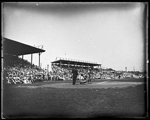 Pelican Stadium - Image: Pelican Stadium 1921 batter