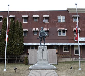 Pembroke, Ontario - The war memorial in downtown Pembroke.