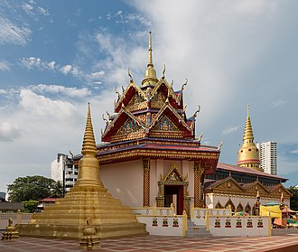 Pulau Tikus - Wat Chaiyamangkalaram is a Thai Buddhist temple built in 1845 on a piece of land donated by Queen Victoria.