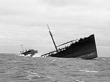 Sección de la proa del SS Pendleton, 19 febrero de 1952