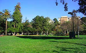 Berkeley, California - People's Park with Unit 2 in the background
