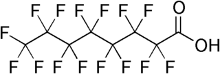 Perfluorooctanoic acid chemical compound