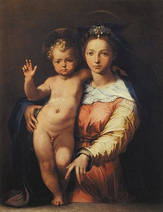 Perino del Vaga - Perino del Vaga, Madonna and Child, oil on canvas, Rome, Palazzo Montecitorio.