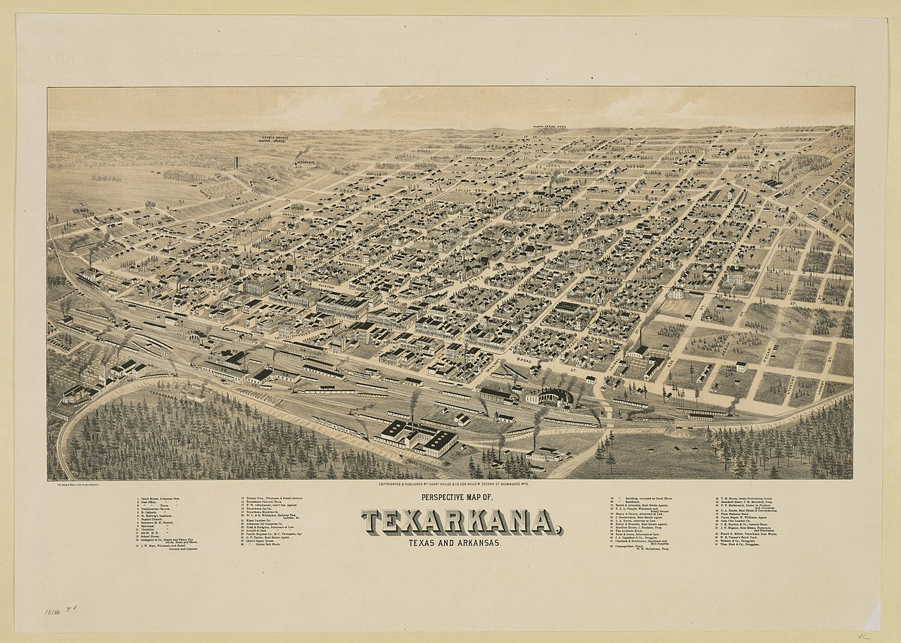 File:Perspective map of Texarkana, Texas and Arkansas ...