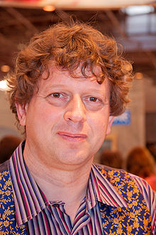 Peter F. Hamilton at a book fair in Paris, France, in March 2009
