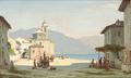 Peter Kornbeck - Et torv i Cannobio ved Lago di Maggiore.png